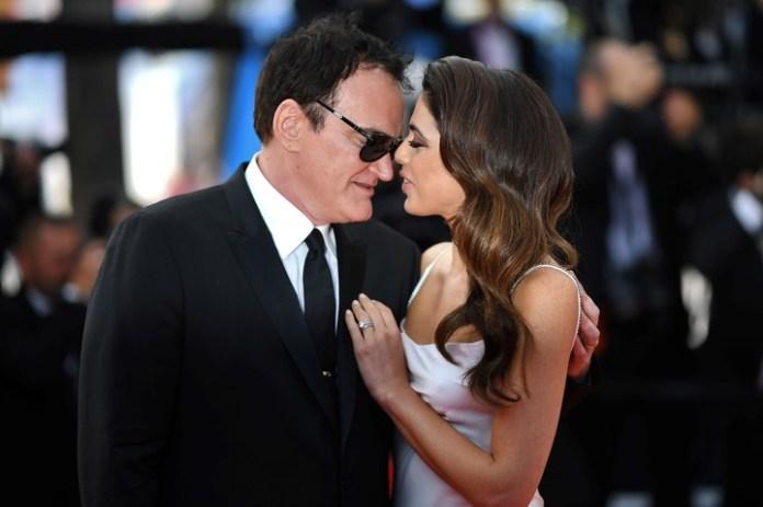 Quentin Tarantino y su esposa, la cantante israelí  Daniella Pick. LOIC VENANCE / AFP