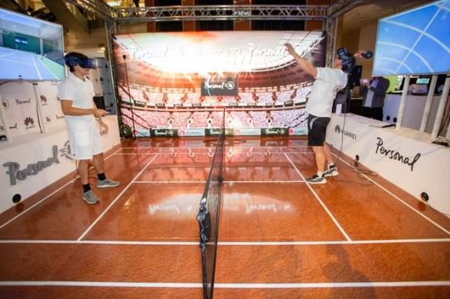 Guillermo Coria y David Nalbandian disputaron un partido de tenis virrual como parte de la prueba que Personal y Huawei realizaron con la red 5G.