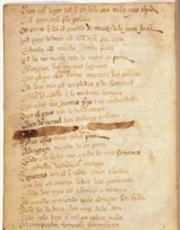 Páginas del códice del 'Cantar de Mío Cid', del siglo XIV. /BIBLIOTECA NACIONAL DE ESPAÑA