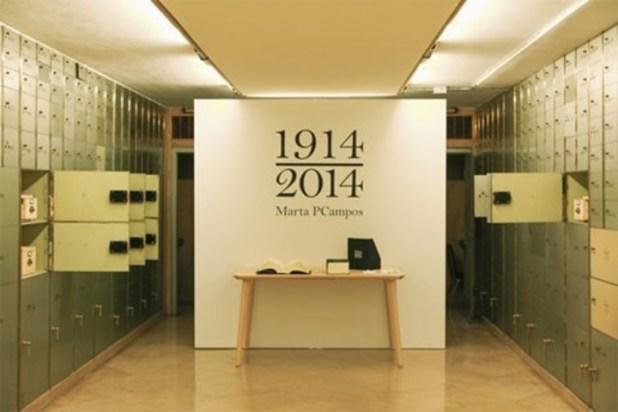 La artista y filóloga Marta PCampos se propuso transformar esas palabras dadas de baja en las protagonistas de la exposición 1914-2014.