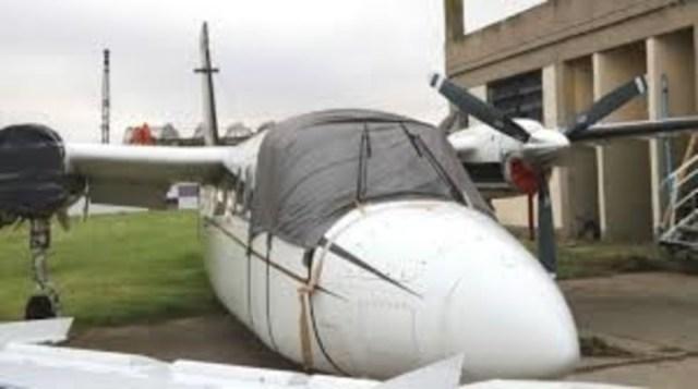 El avión Gulftream, que sale a remate.