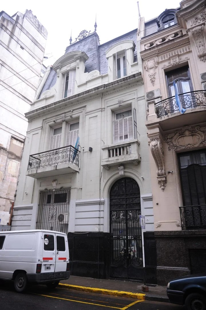 The front of the Instituto Patria in Rodriguez Peña a few meters from the Congress where the bunker K.