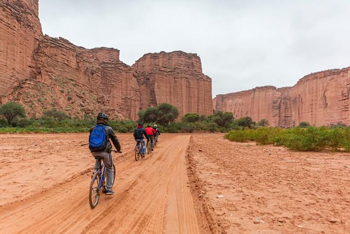 Un circuito en bicicleta por el Parque Nacional Talampaya.