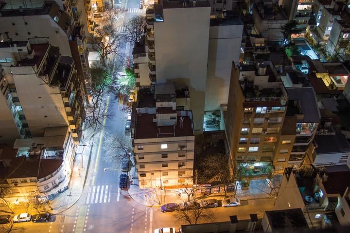 Ciudad inteligente, luminarias en Buenos Aires.