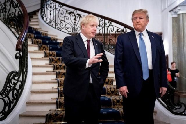 Trump y Johnson aseguran que tiene fuertes coincidencias políticas. (AP)