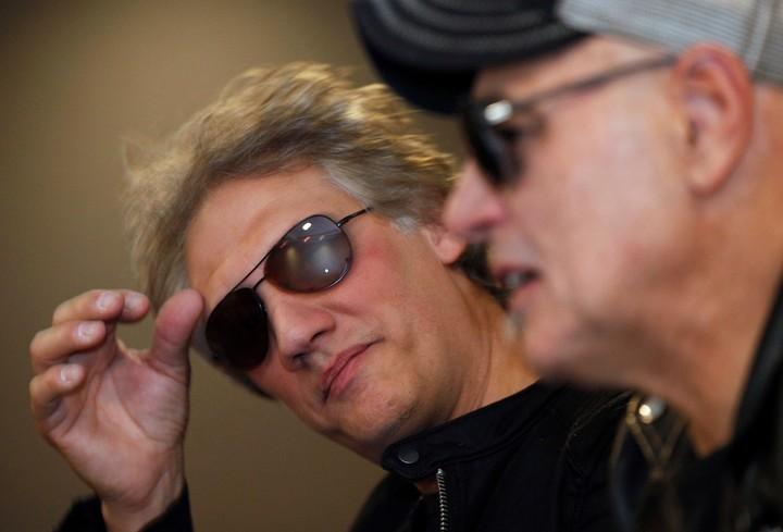 Alberti y Bosio. Los dos fundadores de Soda Stereo que se presentarán en varias ciudades latinoamericanas. Foto/ AP