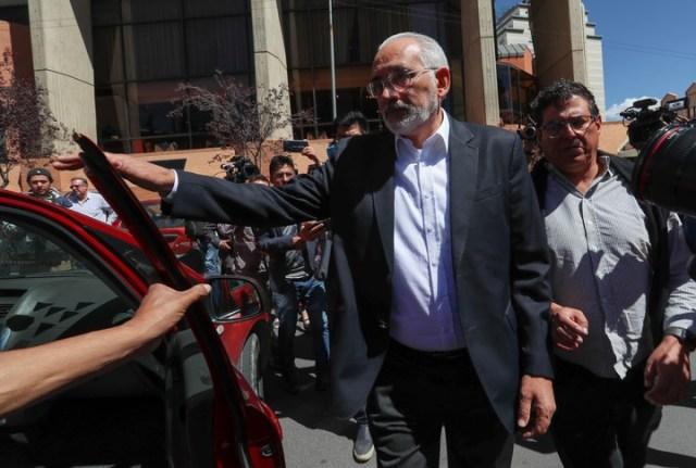 El candidato opositor Carlos Mesa denunció fraude y convocó a sus seguidores a realizar vigilias frente a los tribunales electorales de Bolivia. (EFE)