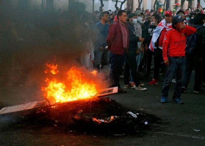 Los primeros días de protestas con denuncias de fraude en Bolivia. (AFP)