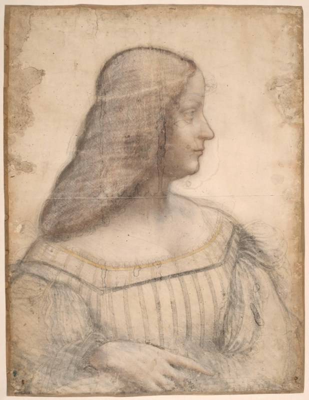 """""""Retrato de Isabel de Este"""" (1499-1500) / © RMN-Grand Palais (musée du Louvre)_Michel Urtado"""