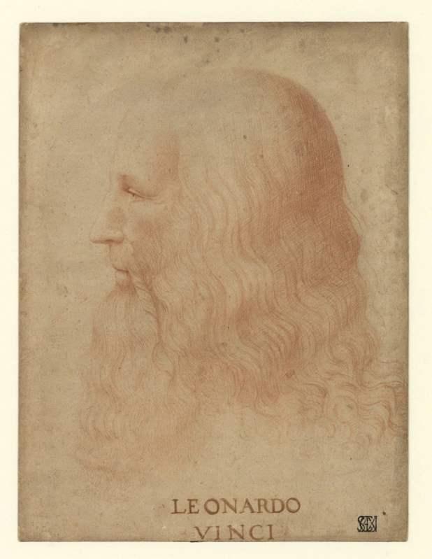 Retrato de Leonardo Da Vinci, atribuido a Francesco Melzi, Portrait. © Veneranda Biblioteca Ambrosiana. Gianni Cigolini, Mondadori Portfolio