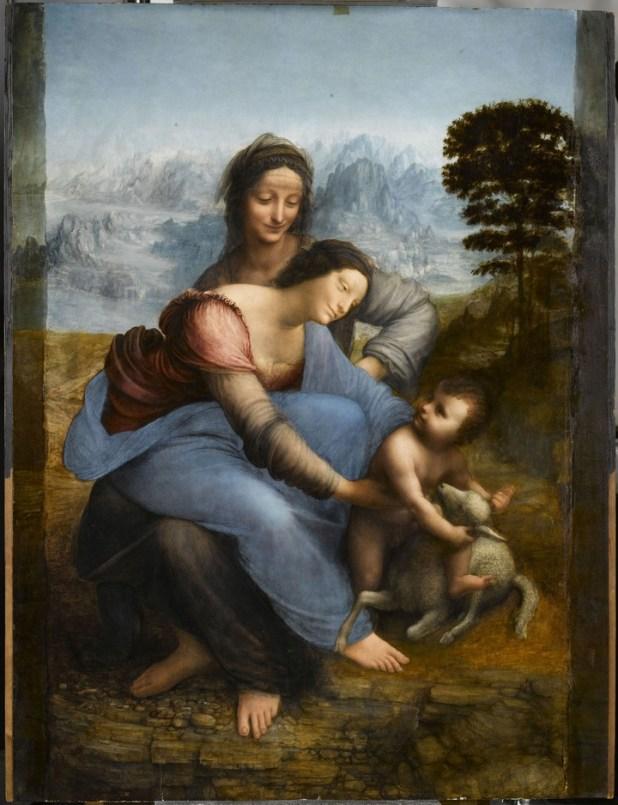 """""""Santa Ana, la Virgen y el Niño"""" (1503). / © RMN-Grand Palais (musée du Louvre)_René-Gabriel Ojéda"""