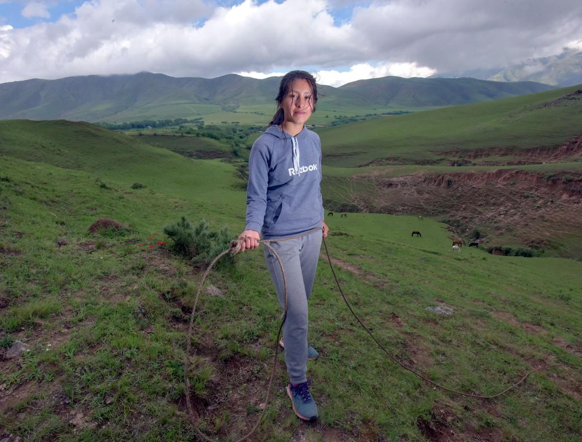 Aldana Cruz, la única de los chicos que había salido de Tafí del Valle. Desde que se entrena con Pablo Díaz, no sufrió más lesiones. Foto: Rafael Mario Quinteros