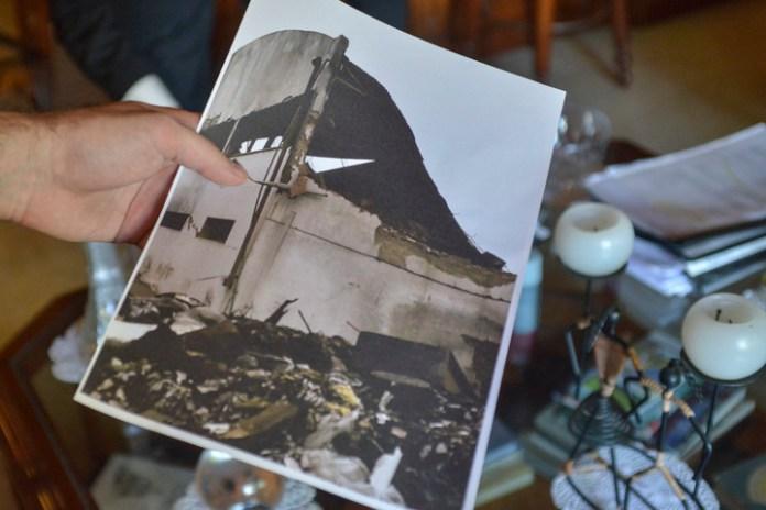 Blumberg dice que el incendio de la fábrica en 2012 fue intencional. (Foto: Constance Niscovolos)