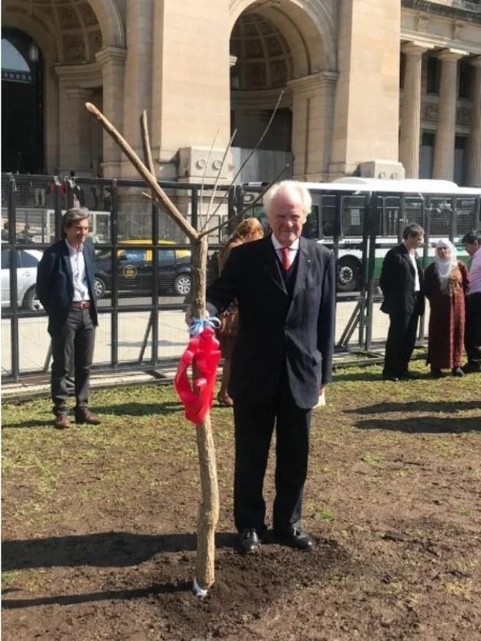 Un acto realizado por la Fundación Axel Blumberg en 2018, en homenaje a las víctimas de delitos.