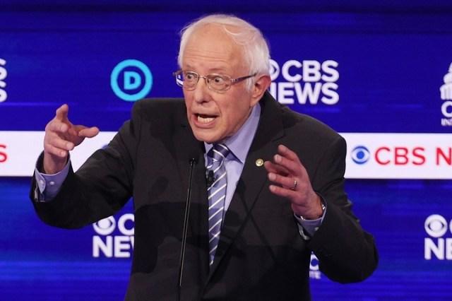 Sanders destacó que las encuestas lo dan como ganador frente a Trump y citó un estudio de la Universidad de Yale que avala su proyecto de plan de seguro universal de salud. /Win McNamee/Getty Images/AFP/