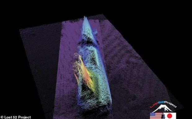 Un escaneo del sumbarino en las profundidades (Lost 52).
