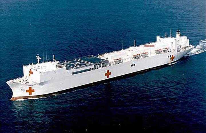 El barco hospital USNS Comfort ./ AFP
