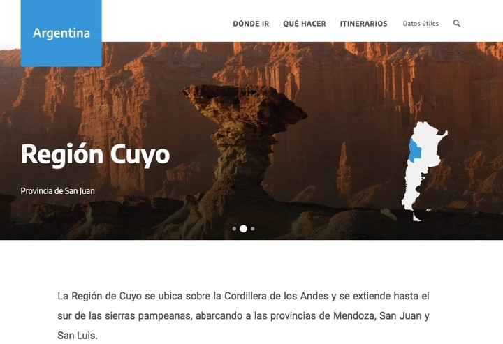 Hay que ingresar en el portal argentina.tur.ar para acceder a los recorridos 360º.