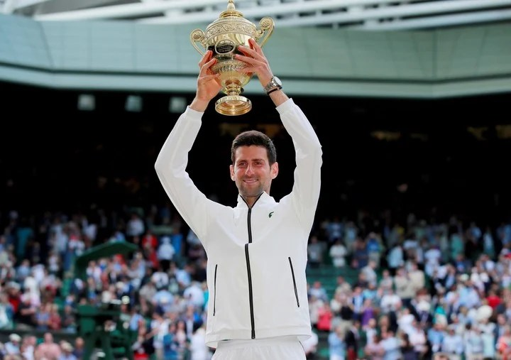 Djokovic won his fifth Wimbledon trophy in 2019 by beating Federer in the final.  Photo REUTERS / Andrew Couldridge