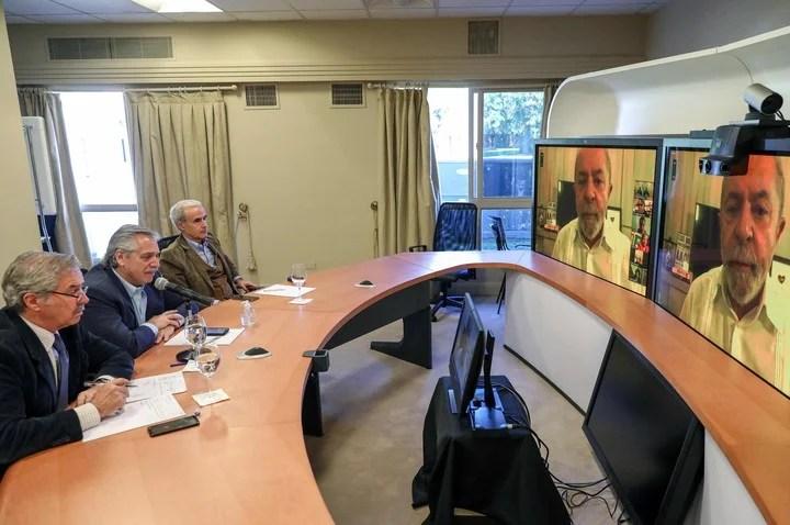Alberto Fernández habla con Lula desde Olivos.