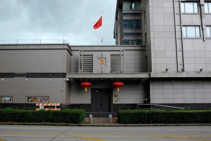 El consulado de China en Houston, Texas. El gobierno de Donald Trump le dio 72 horas de plazo a Beijing para que retire a su personal. /AFP