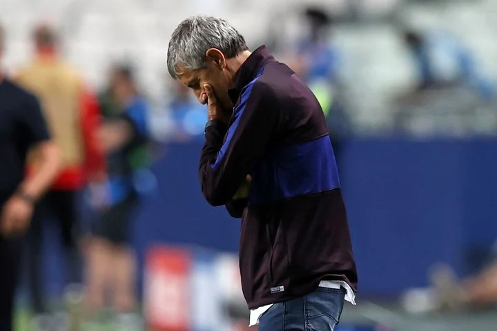 Quique Setién, the former Barcelona coach.  Photo: AFP.