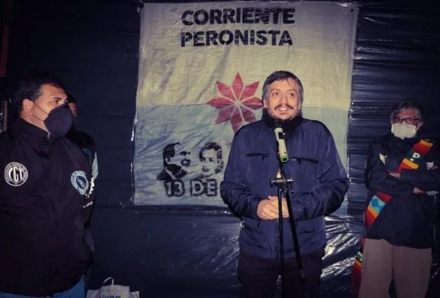 Máximo Kirchner, referente de La Cámpora, que mantiene una disputa con los moviimentos sociales.