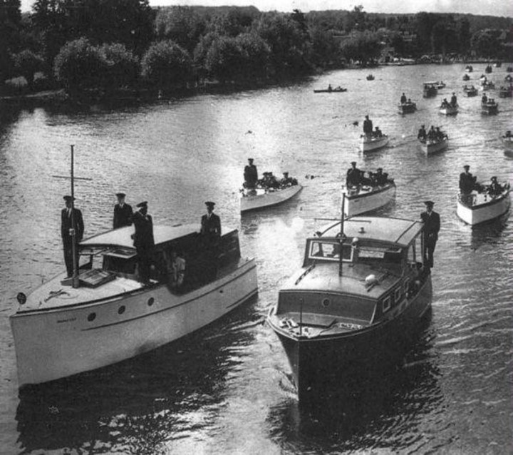 The civilian ships that assisted in the evacuation.  Photo: archive