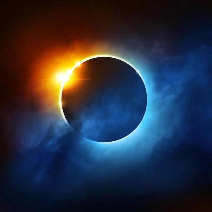 Eclipse solar de diciembre 2020: el clima energético. Foto: ilustración Shutterstock.