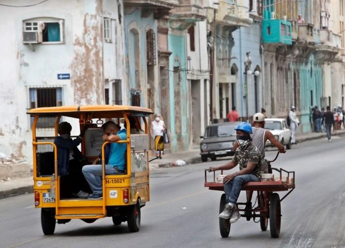 Las calles de La Habana sin turistas. Foto: EFE