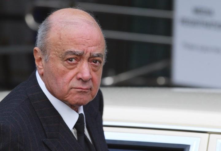 Mohammed Al Fayed, el multimillonario egipcio dueño del Ritz y de las tiendas Harrods (AP)