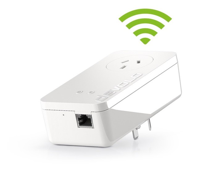 The devolo adapters transmit the Internet signal through the electrical current (Powerline technology) of every home.