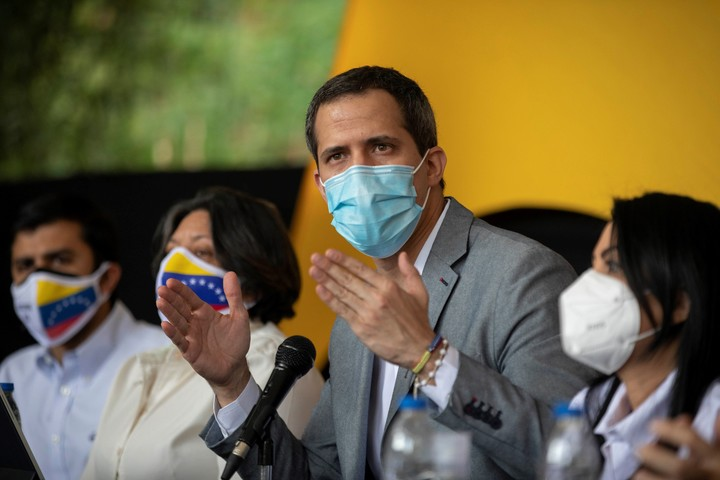 The Venezuelan opposition leader Juan Guaidó will participate in the meeting with the Venezuelan ruling party in Mexico.  Photo: EFE