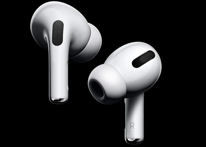 The AirPods Pro headphones.