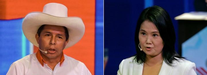 Duel: Pedro Castillo and Keiko Fujimori.  Photo: AFP