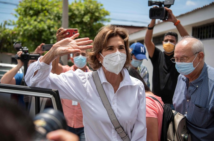 The journalist and dissident leader Cristiana Chamorro, under house arrest since the beginning of June- Photo: AFP