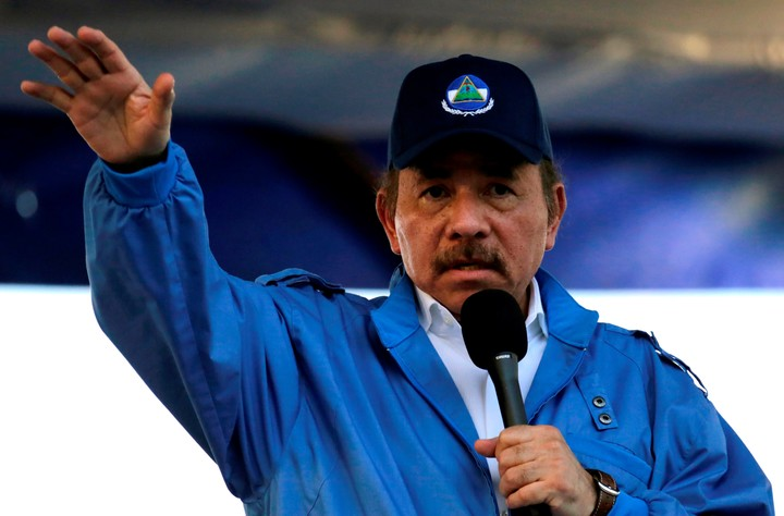 Daniel Ortega seeks his reelection in November and attacks opposition candidates.  Photo: AFP