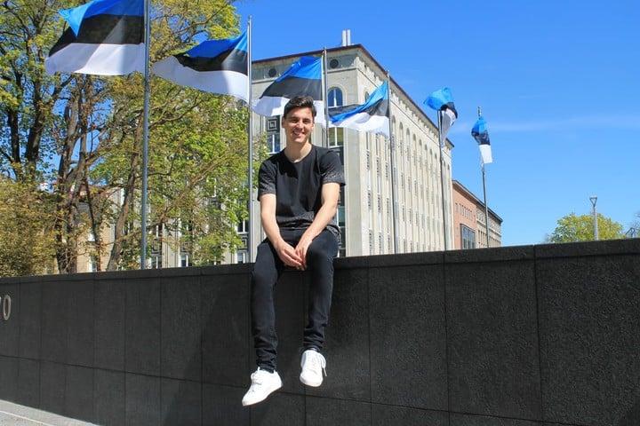 Matthew.  He arrived in Estonia on December 22, 2019. Photo: @mateorauls.