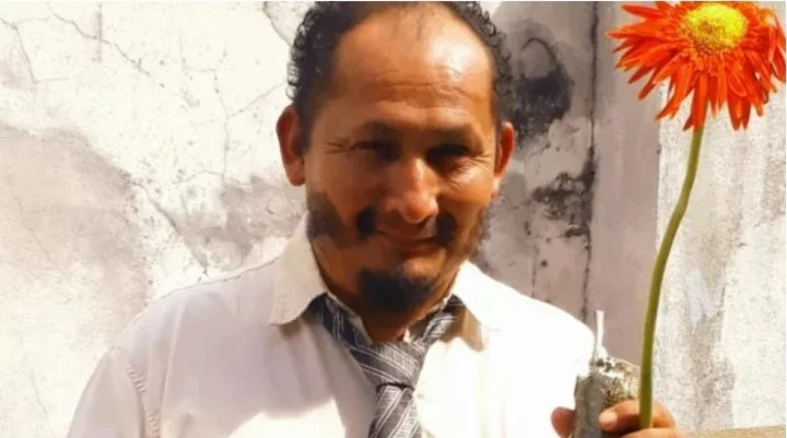 Miguelito, the homeless man who was recorded while he died in Eldorado, Misiones.