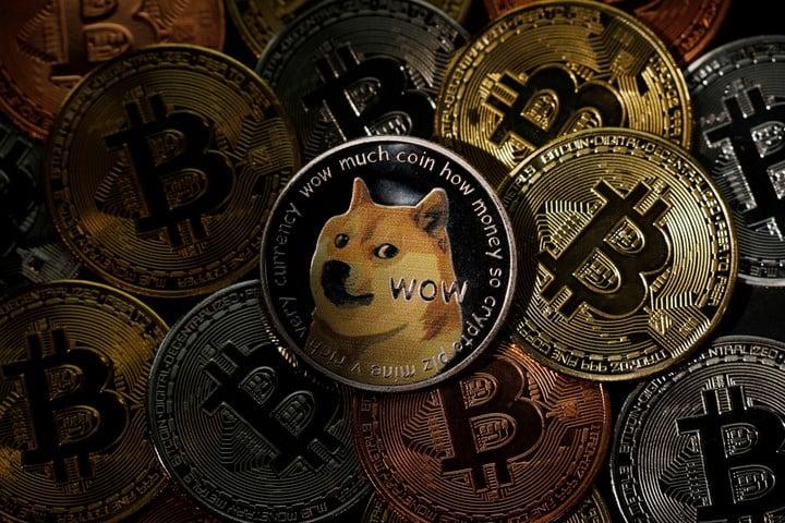 Dogecoin and Bitcoin.  Reuters photo