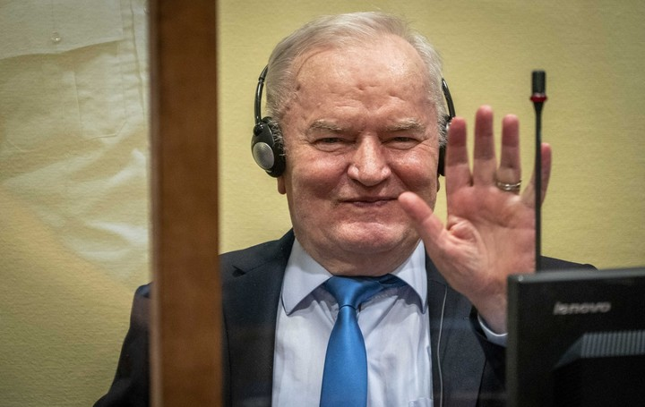 Former Bosnian Serbian military chief Ratko Mladic in court in The Hague.  Photo: EFE