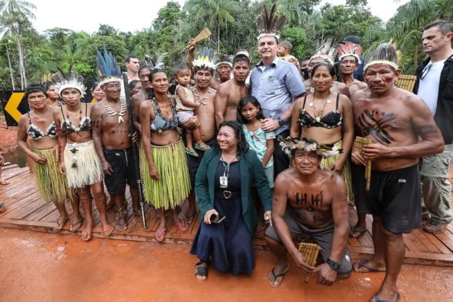 En respuesta a la frase de Alberto Fernández, Jair Bolsonaro hizo circular esta foto.