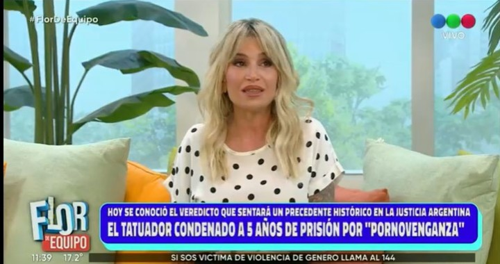 Flor Peña recalled the suffering she suffered when an intimate video with her ex-husband was leaked in 2012. Captura TV