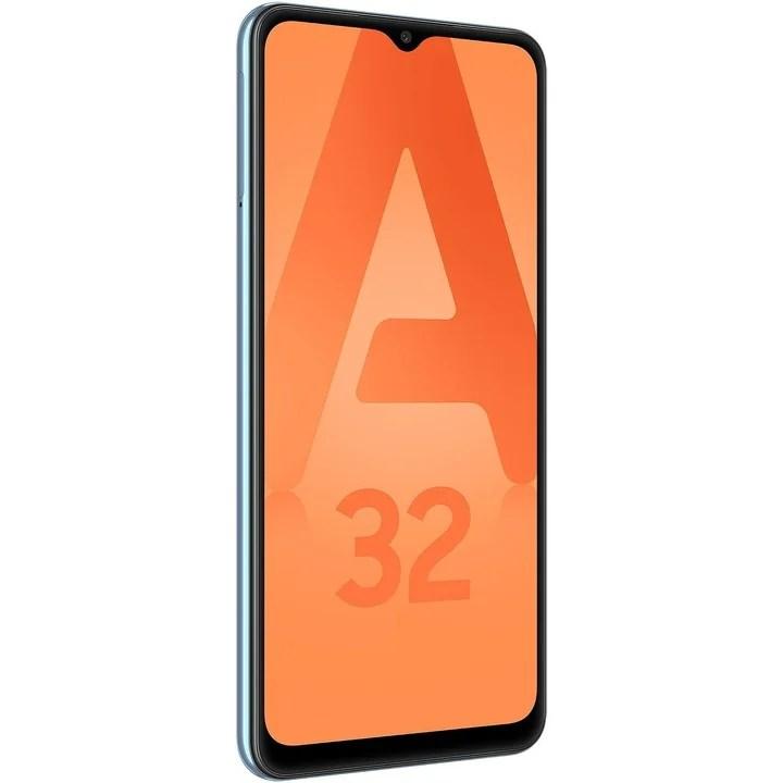 "Samsung Galaxy A32.  6.4 AMOLED screen"" FullHD + with fingerprint reader, Mediatek Helio G80 chip, four rear cameras 64MP f / 1.8, 8MP f / 2.2 UGA, 5MP f / 2.4 bokeh and 5MP f / 2.4 macro.  Price: $ 43,999."