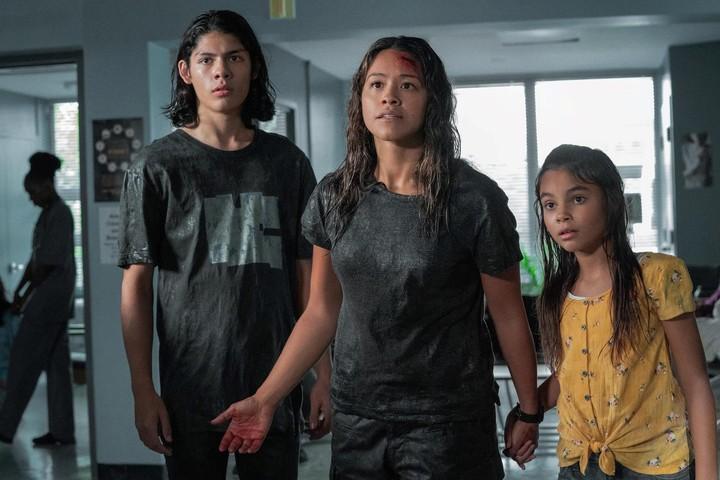 "Of Latin origin: Noah, Jill and Matilda.  Dad died ""in a war"".  Netflix photo"
