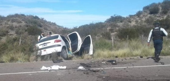 En el Peugeot murieron un hombre y su hija.