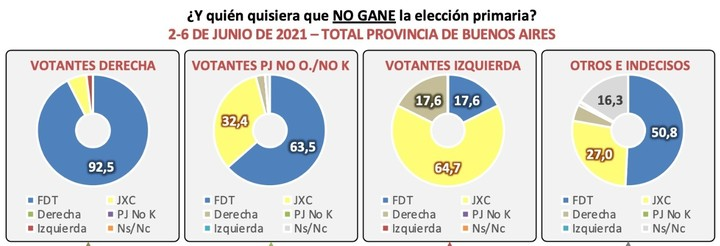 Synopsis poll: right-wing voters, motivated so that the Frente de Todos does not win.