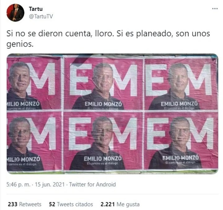 Speculation about the posters of Emilio Monzó on social networks.