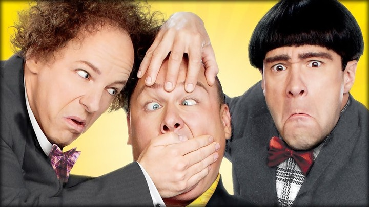 """Legacy.  Actors Chris Diamontopoulos (Moe), Sean Hayes (Larry) and Will Sasso Curly) in  """"The Three Stooges: The Movie"""" 2012."""