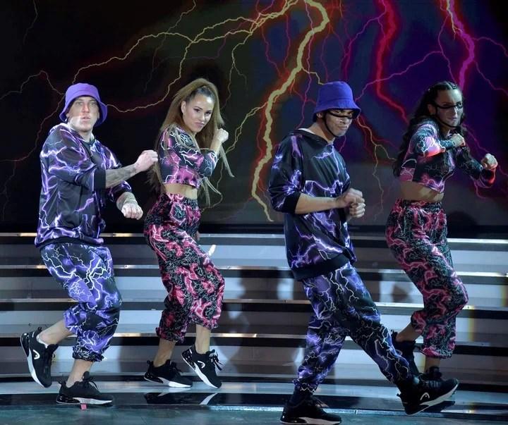 El Polaco and Barby Silenzi scored 14 points with their shuffle dance choreography on ShowMatch.  Photo LaFlia / Julio Ruiz.